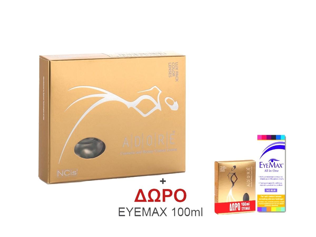 ADORE Eyemed Τριμηνιαίοι Έγχρωμοι Φακοί Επαφής Μυωπίας-Υπερμετρωπίας 2τμχ